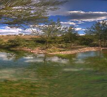 Turon Reflections # 2 (25 Exposure Panorama) - Hill End NSW - The HDR Experience by Philip Johnson