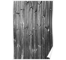 black and white wooden boards Poster