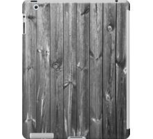 black and white wooden boards iPad Case/Skin
