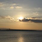 Evening over Scattery Island by April Jarocka