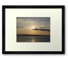 Evening over Scattery Island Framed Print