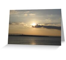 Evening over Scattery Island Greeting Card