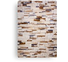 cracked real stone wall Canvas Print
