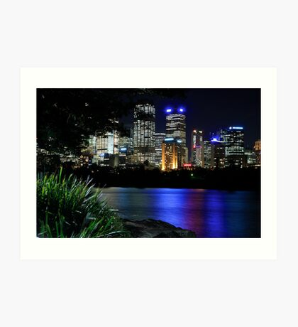 Sydney Skyline After Hours Art Print