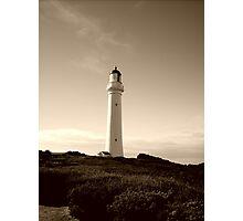 Great Ocean Road lighthouse  -  Victoria   -   Australia  - sepia Photographic Print