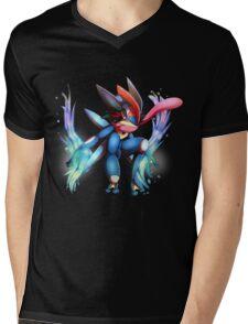 Ash-Greninja Mens V-Neck T-Shirt