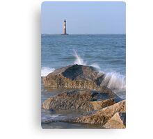 Morris Island Light, Folly Beach, SC Canvas Print