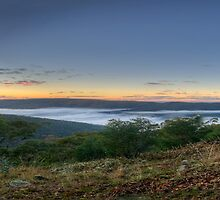 Mist In The Valley (25 Exposure HDR Panorama) -Kissing Point - Hill End - The HDR Experience by Philip Johnson