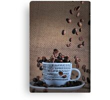 Coffee beans rain Canvas Print