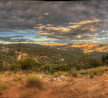 The Valley - Merlins Lookout , Hill End NSW - The HDR Experience by Philip Johnson