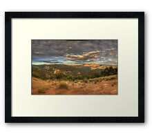 The Valley - Merlins Lookout , Hill End NSW - The HDR Experience Framed Print