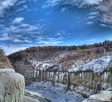 Letchworth State Park Winter Panorama by Ned Elliott