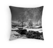 Infared red view of Downpatrick N Ireland Throw Pillow