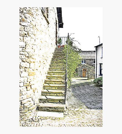 The Steps - Dent Cottage Photographic Print