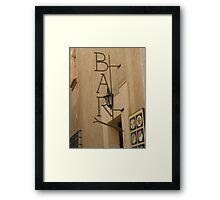 """""""Bar"""" Framed Print"""