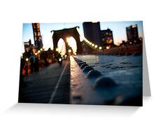 Along the Brooklyn Bridge Greeting Card