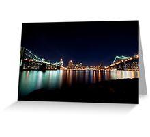 Two Bridges ... from Brooklyn Greeting Card
