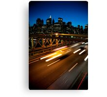 Brooklyn Bridge and Manhattan skyline at twilight Canvas Print