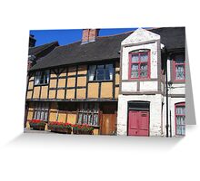 Tudor Cottage Greeting Card