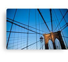 Sunset on the Brooklyn Bridge Canvas Print