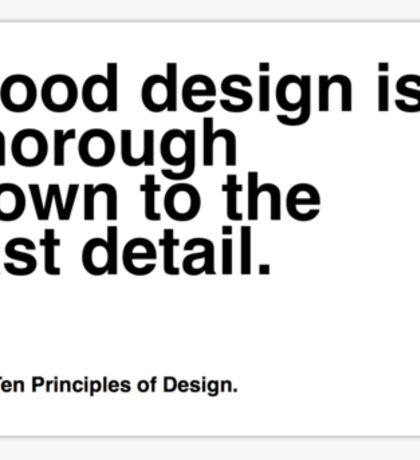 Principles of Design 8 Sticker