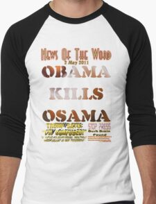 Obama Kills Osama T-shirt Design Men's Baseball ¾ T-Shirt