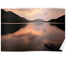 Sunset Buttermere, Cumbria. UK Poster