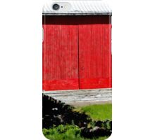 Barn with the Red Doors iPhone Case/Skin