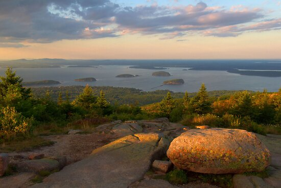 Evening Light On Cadillac Mountain by Stephen Vecchiotti