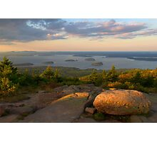 Evening Light On Cadillac Mountain Photographic Print