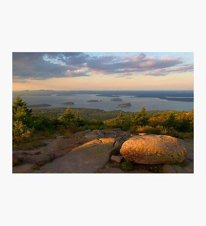Evening Light On Cadillac Mountain Photographic Print