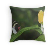 Butterfly & Bloom Throw Pillow