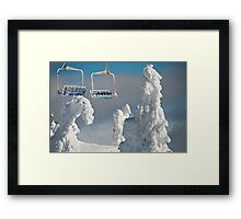 Frozen Chairs Framed Print