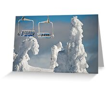 Frozen Chairs Greeting Card