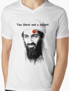Bin Laden is DEAD!  :) Mens V-Neck T-Shirt