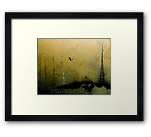 Theory of Flight - Blue Herons Framed Print