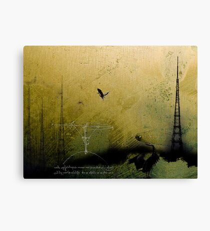Theory of Flight - Blue Herons Canvas Print