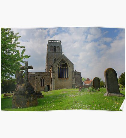St Mary's Church, Wedmore from the east Poster