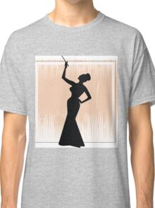 sexy girl silhouette with a cigar Classic T-Shirt