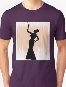 sexy girl silhouette with a cigar T-Shirt