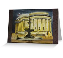 evening St George's Hall Liverpool Greeting Card