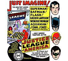 Retro Comics First Justice League Comic Book #1 Advertisement Photographic Print