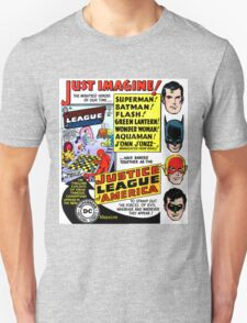 Retro Comics First Justice League Comic Book #1 Advertisement T-Shirt