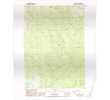 USGS Topo Map Oregon Yellow Butte 282158 1987 24000 Poster