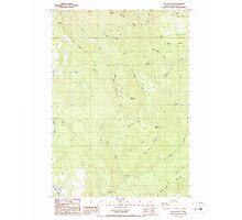 USGS Topo Map Oregon Yellow Butte 282158 1987 24000 Photographic Print