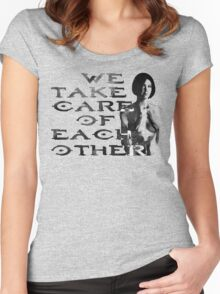 HALO Cortana We Take Care of Each Other Women's Fitted Scoop T-Shirt