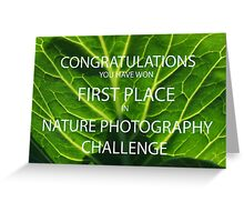 NATURE PHOTOGRAPHY CHALLENGE BANNER Greeting Card