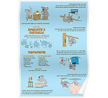 Spaghetti & Meatballs folding recipe book Poster