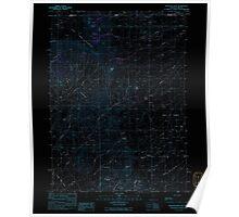 USGS Topo Map Nevada Disaster Peak 318583 1991 24000 Inverted Poster