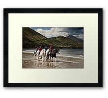 County Kerry Beachriders Framed Print